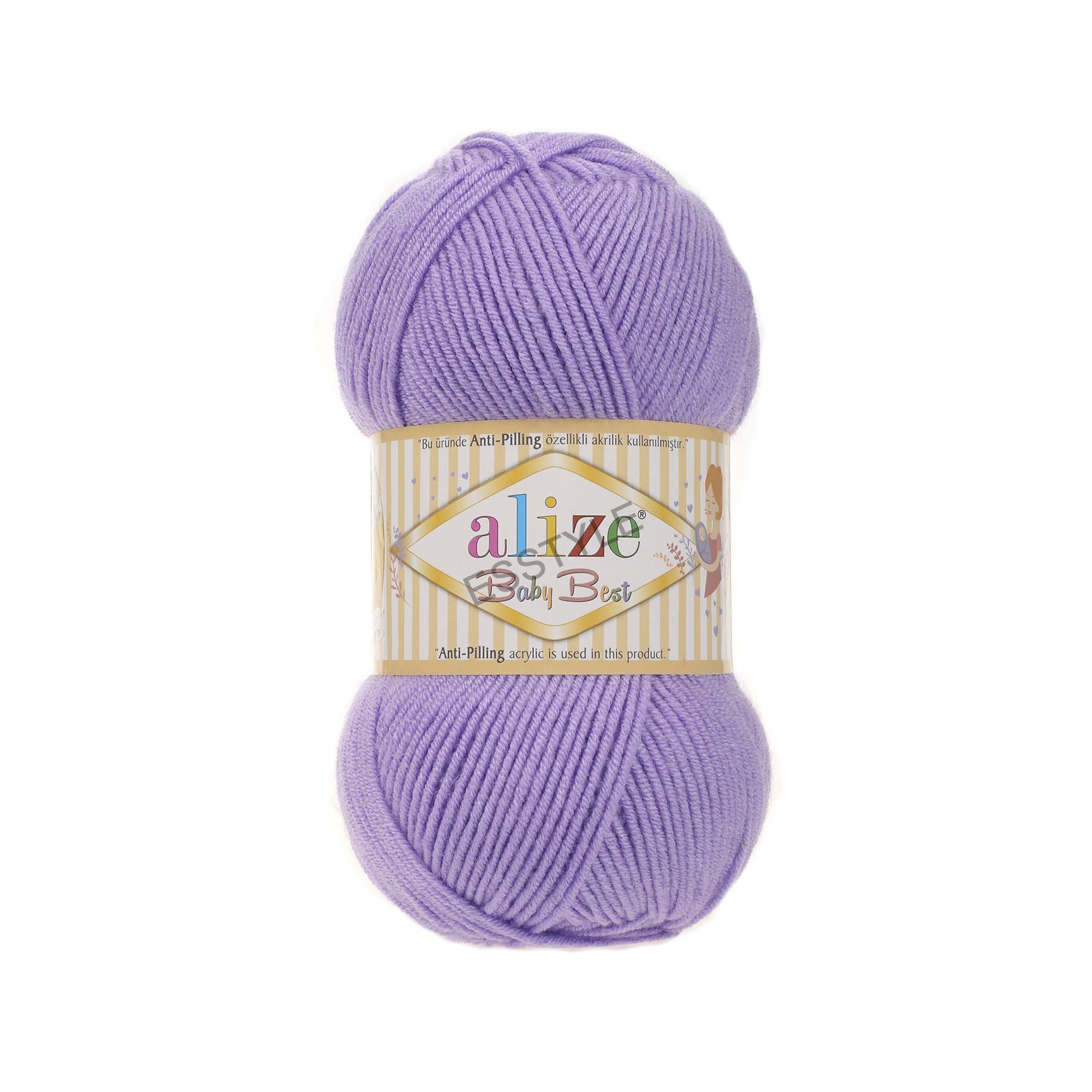 5bc825cf3 Priadza Alize - Baby best 100g - Anti-pilling - fialová - č. 43