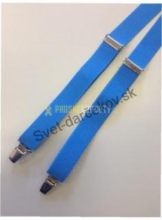 c6a8ecfef Pánske traky bledo modrej farby - úzke empty