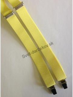 81deb5a96 Pánske traky bledo žltej farby - úzke empty